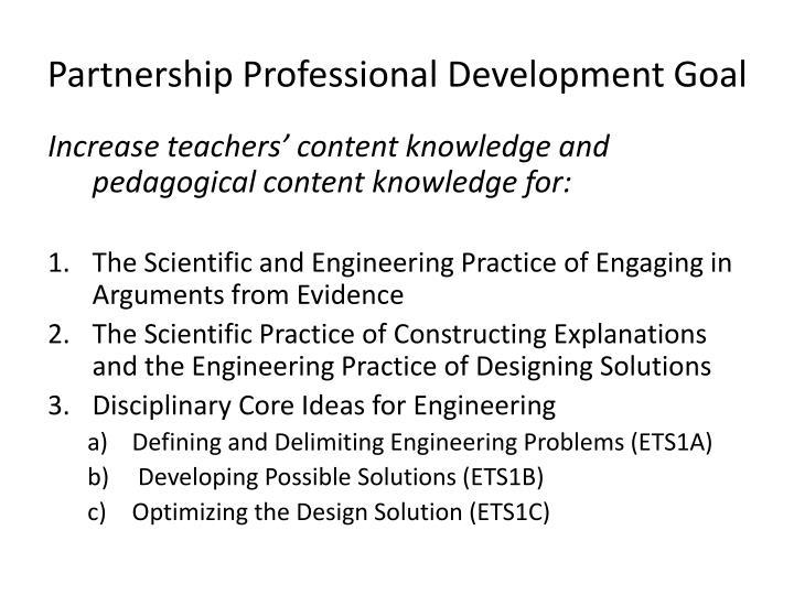 Partnership Professional Development Goal
