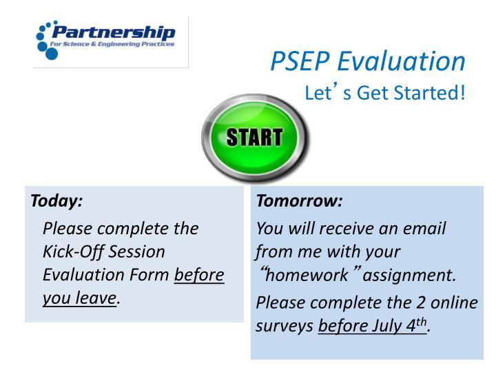 PSEP Evaluation