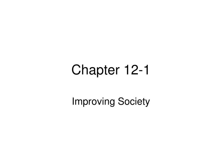 Chapter 12-1