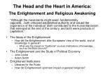 the head and the heart in america the enlightenment and religious awakening