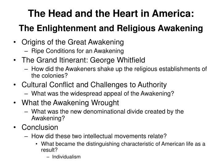 The Head and the Heart in America:
