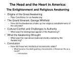 the head and the heart in america the enlightenment and religious awakening1