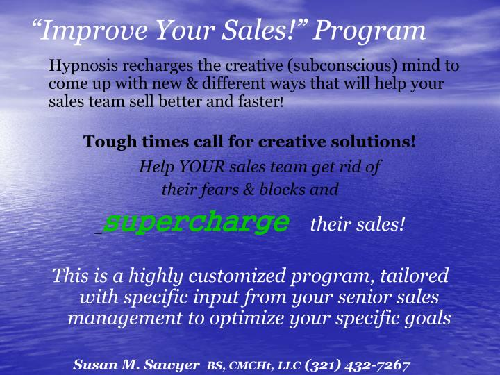 """Improve Your Sales!"" Program"