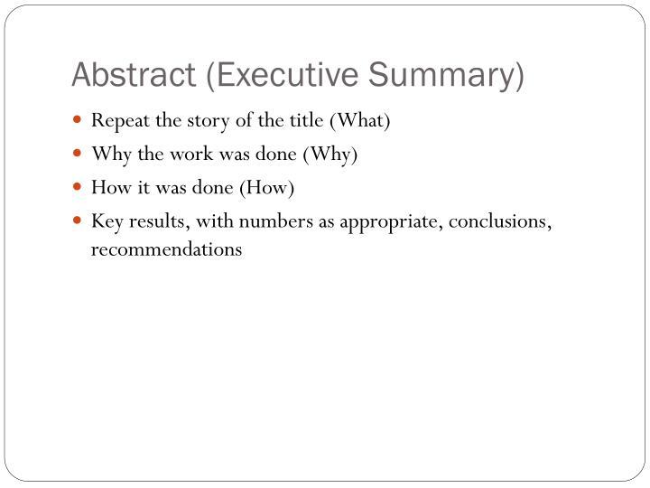 Abstract (Executive Summary)