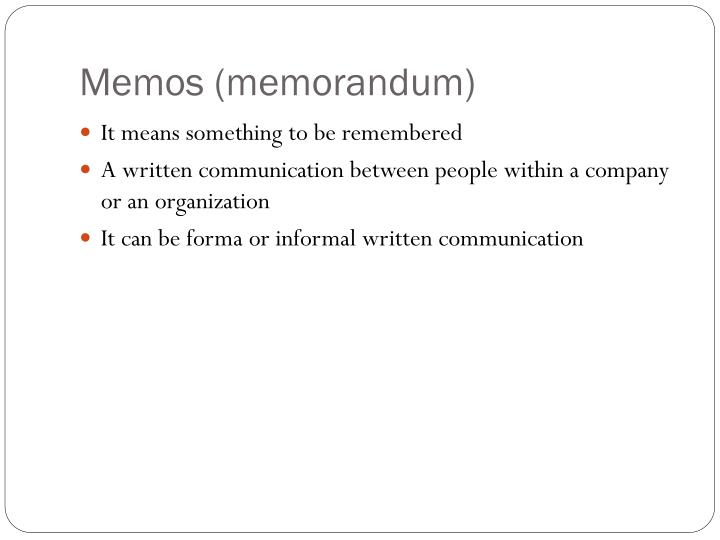 Memos (memorandum)