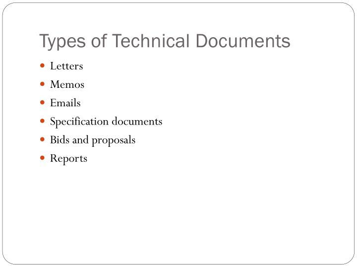 Types of Technical Documents