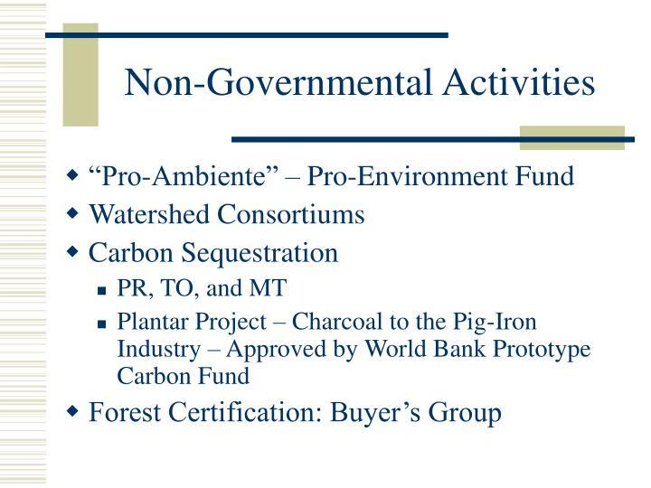 Non-Governmental Activities