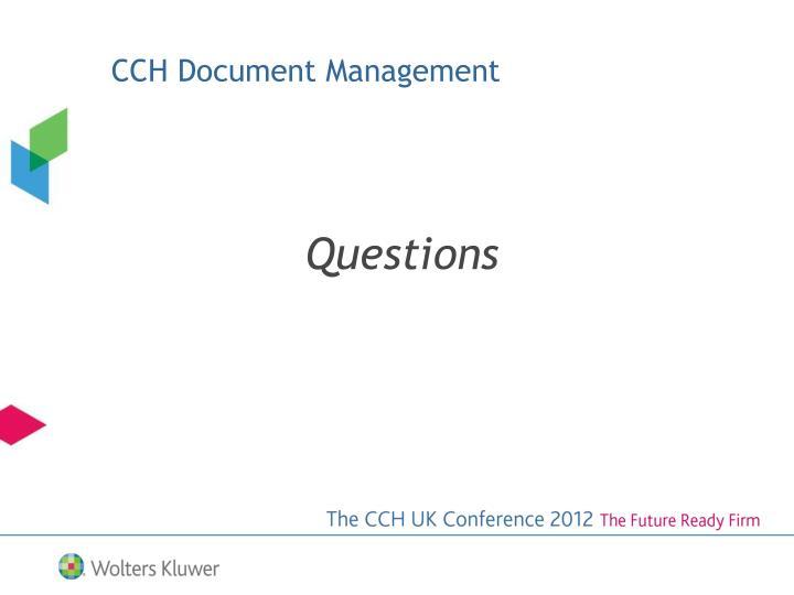 CCH Document Management