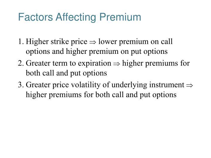 Factors Affecting Premium