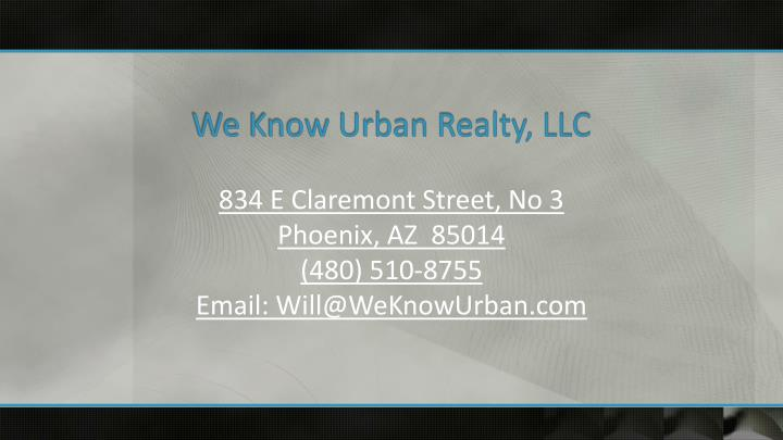 We Know Urban Realty, LLC