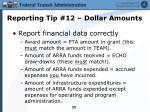 reporting tip 12 dollar amounts