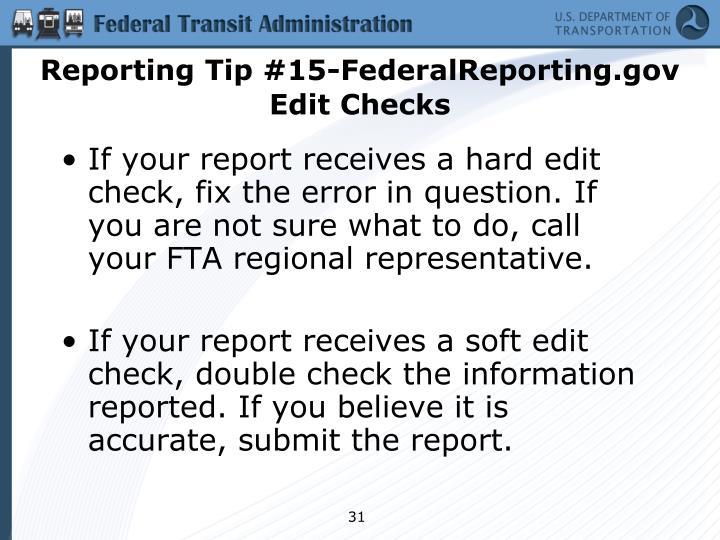 Reporting Tip #15-FederalReporting.gov Edit Checks