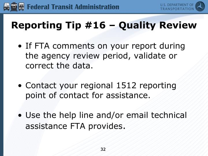Reporting Tip #16 – Quality Review