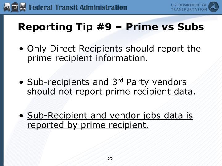 Reporting Tip #9 – Prime
