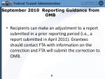 september 2010 reporting guidance from omb2