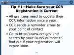 tip 1 make sure your ccr registration is current