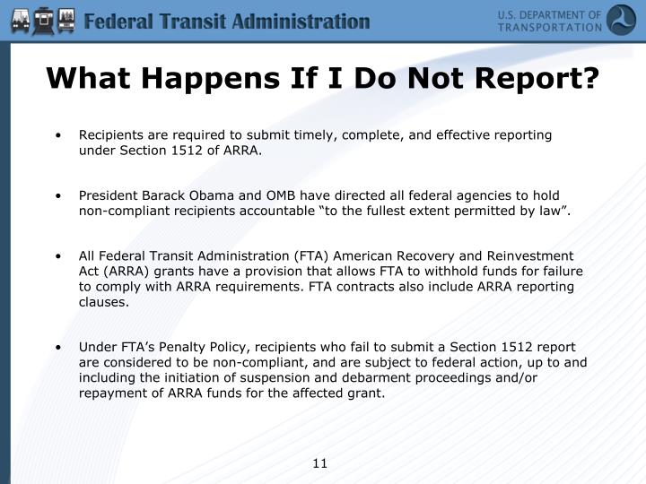 What Happens If I Do Not Report?