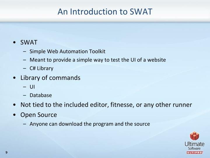 An Introduction to SWAT