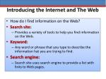 introducing the internet and the web12
