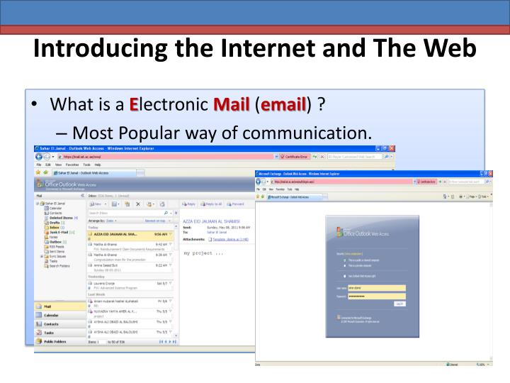 Introducing the internet and the web2
