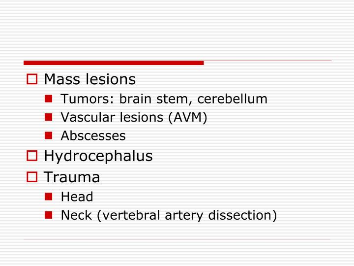 Mass lesions