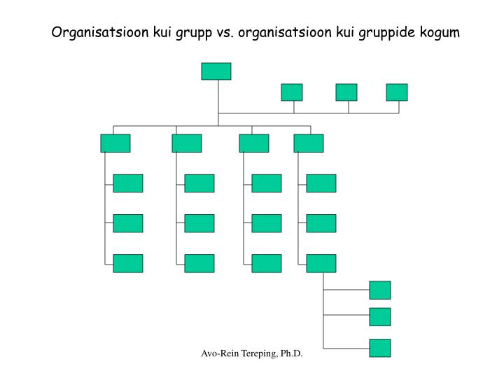 Organisatsioon kui grupp vs. organisatsioon kui gruppide kogum