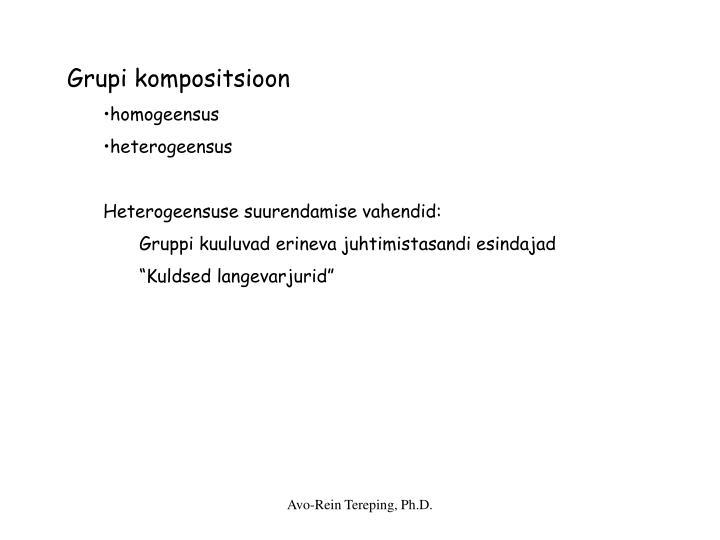 Grupi kompositsioon
