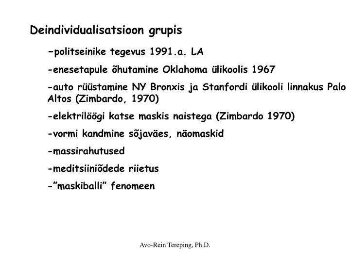 Deindividualisatsioon grupis