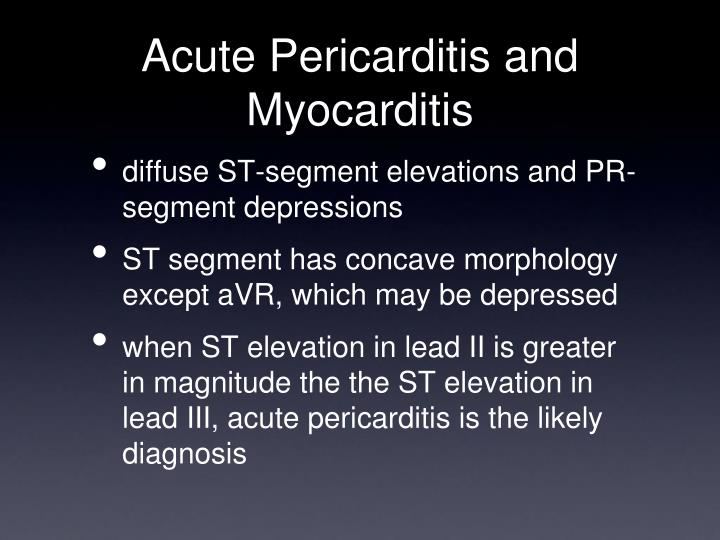 Acute Pericarditis and Myocarditis