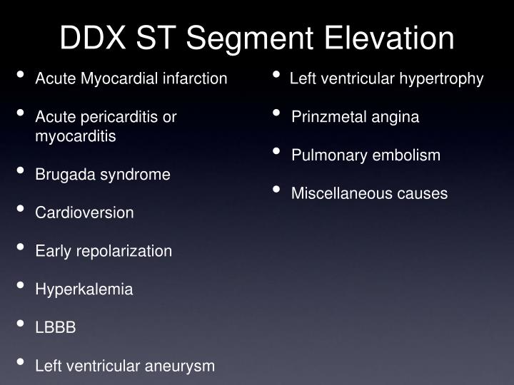 DDX ST Segment Elevation