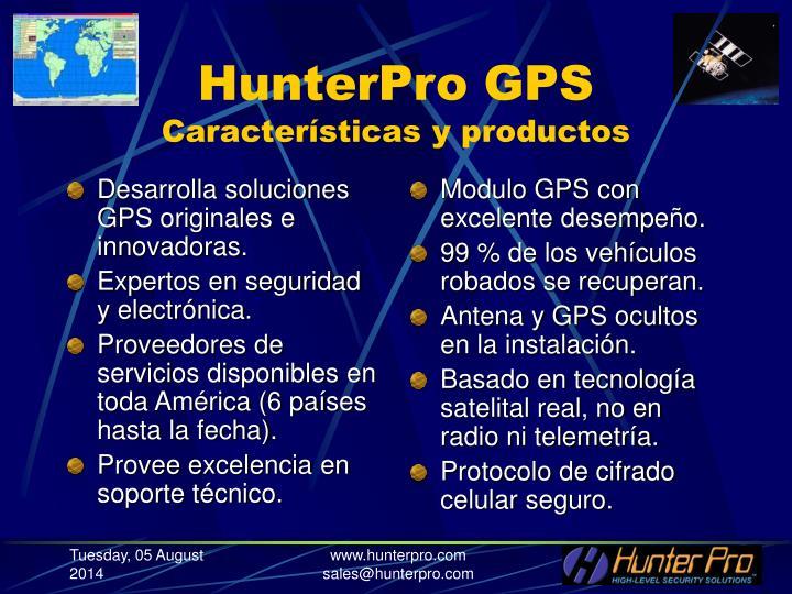 Desarrolla soluciones GPS originales e innovadoras.