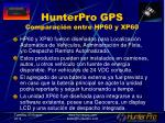 hunterpro gps comparaci n entre hp60 y xp60