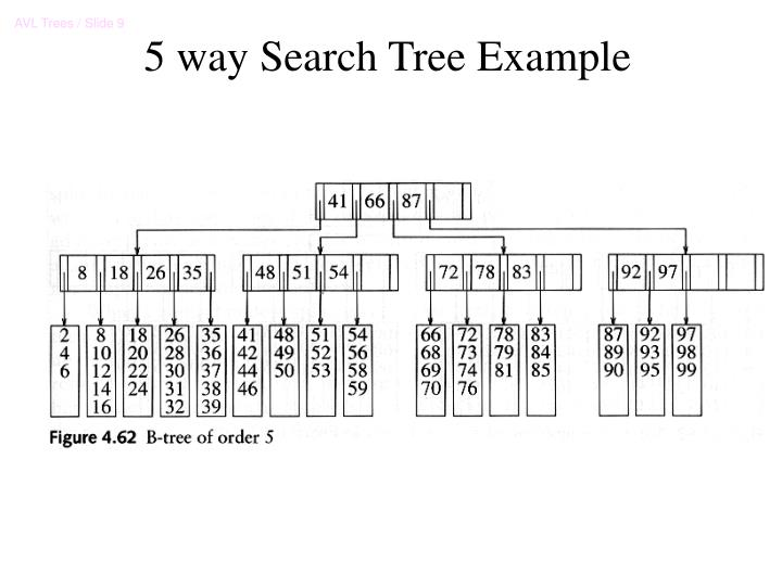 5 way Search Tree Example