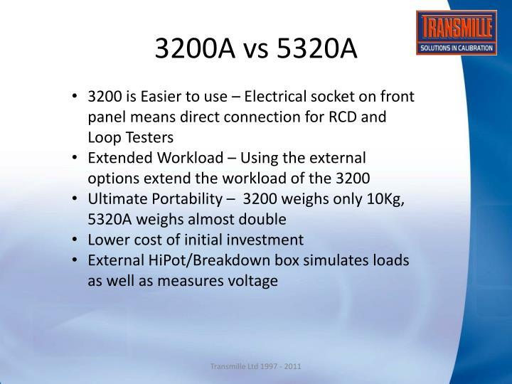 3200A vs 5320A