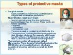 types of protective masks