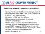 operational research poultry vaccination activity
