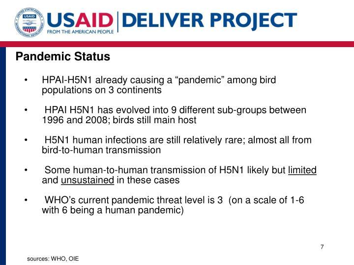 Pandemic Status