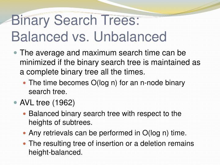 Binary Search Trees: