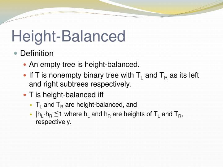 Height-Balanced