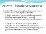 activity functional outcomes