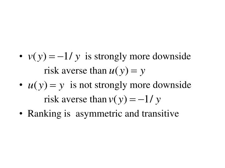 is strongly more downside