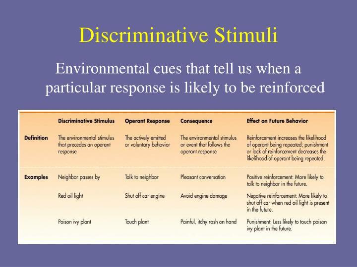 Discriminative Stimuli