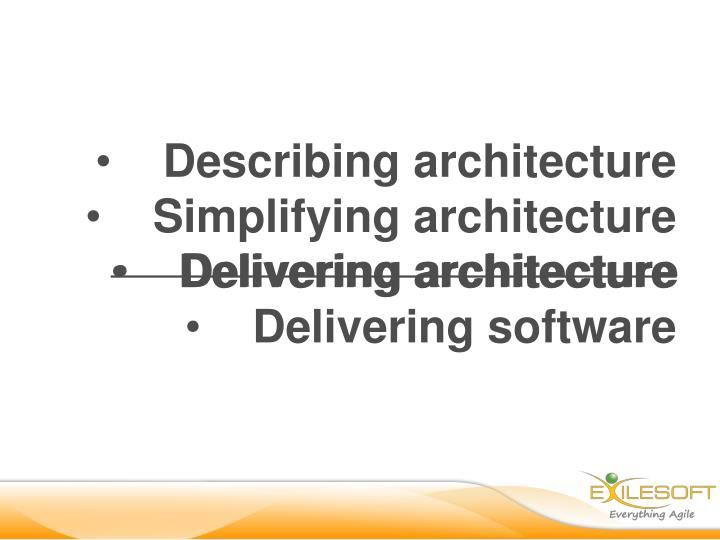 Describing architecture