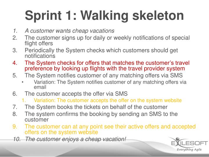 Sprint 1: Walking skeleton