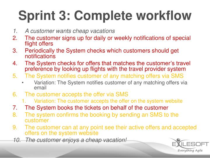 Sprint 3: Complete workflow