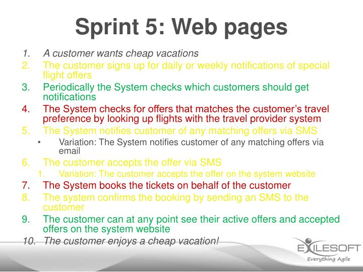 Sprint 5: Web pages