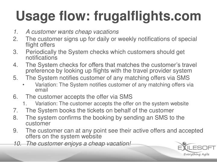 Usage flow: frugalflights.com