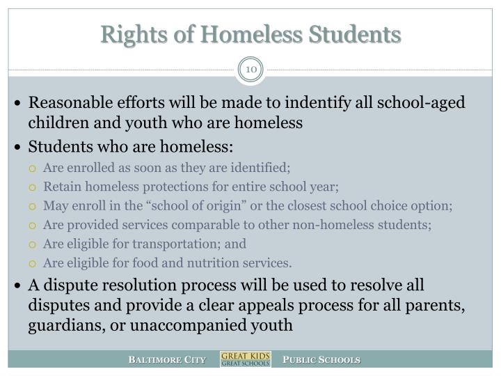 Rights of Homeless Students
