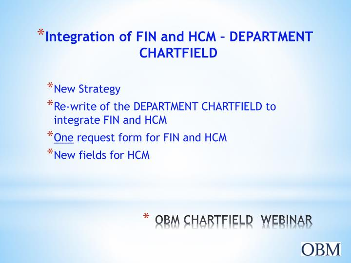 Integration of FIN and HCM