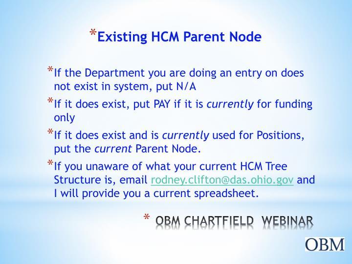 Existing HCM Parent Node